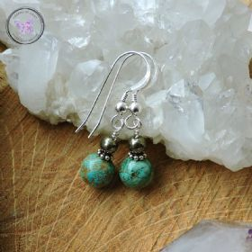 Turquoise & Pyrite Earrings